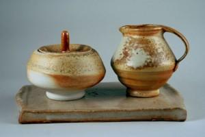 Liz Willoughby sugar and creamer set