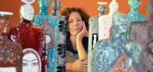 Teri Hannigan with Soul Journey Sculptures